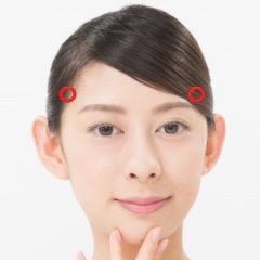 頭痛を治すツボ(頭維)