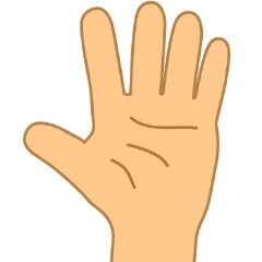 手のツボ(手のひら側)